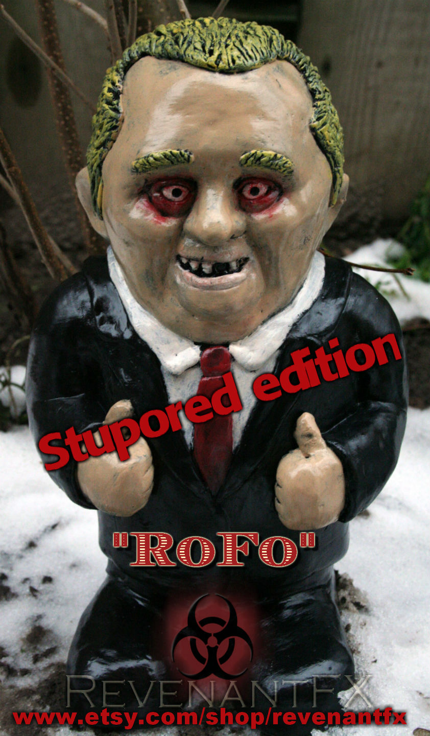 "Rob Ford Gnome ""Stupored Edition"""
