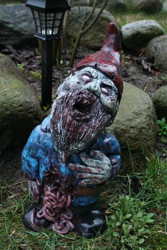 Gnome In Garden: Zombie Garden Gnomes