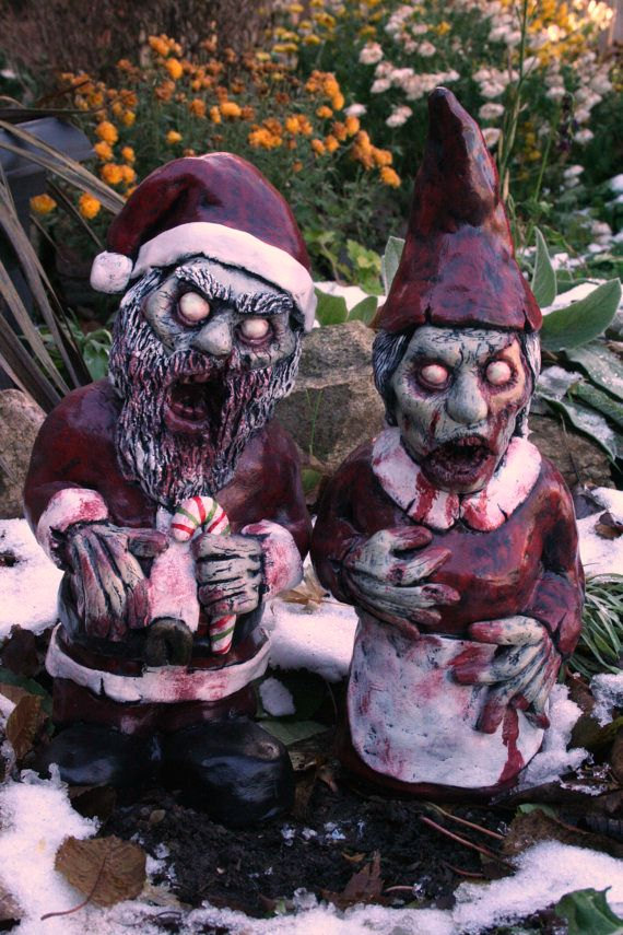 Christmas Zombie Santa.Mr And Mrs Santa Corpse A Zombie Christmas